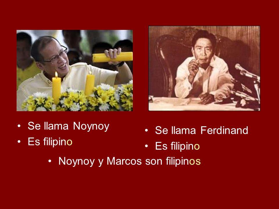 Se llama Isabel Es filipina Se llama Imelda Es filipina Isabel e Imelda son filipinas