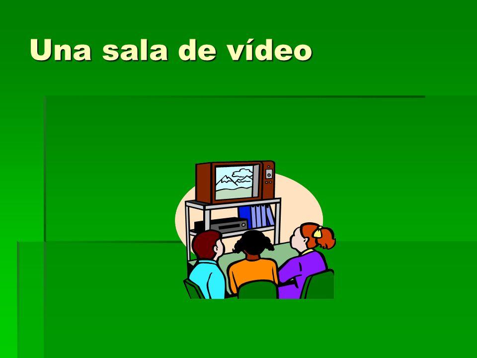 Una sala de vídeo
