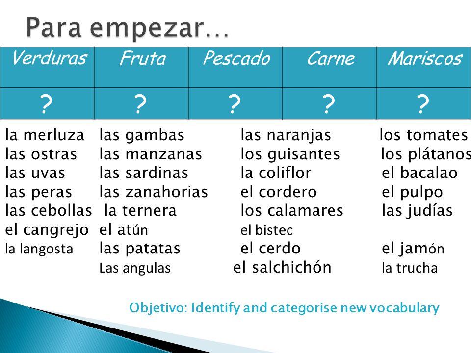 VerdurasFrutaPescadoCarneMariscos ????.