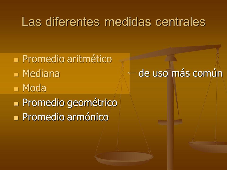 Definición Las medidas tienen el mismo propósito que las tablas y gráficas: Las medidas tienen el mismo propósito que las tablas y gráficas: mostrar o