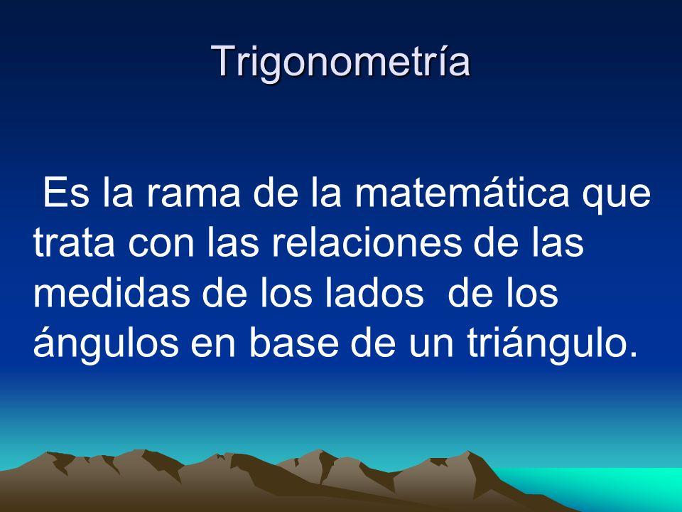 Introducción a conceptos trigonométricos Las razones trigonométricas