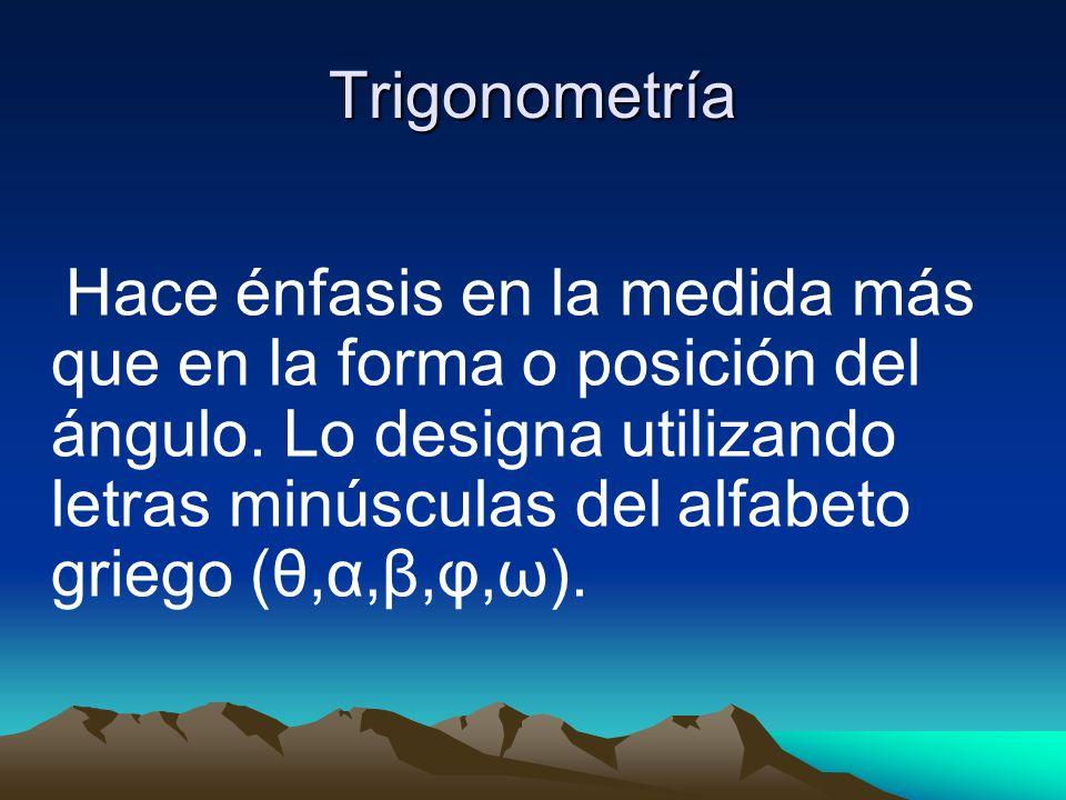 Trigonometría Es la rama de la matemática que trata con las relaciones de las medidas de los lados de los ángulos en base de un triángulo.