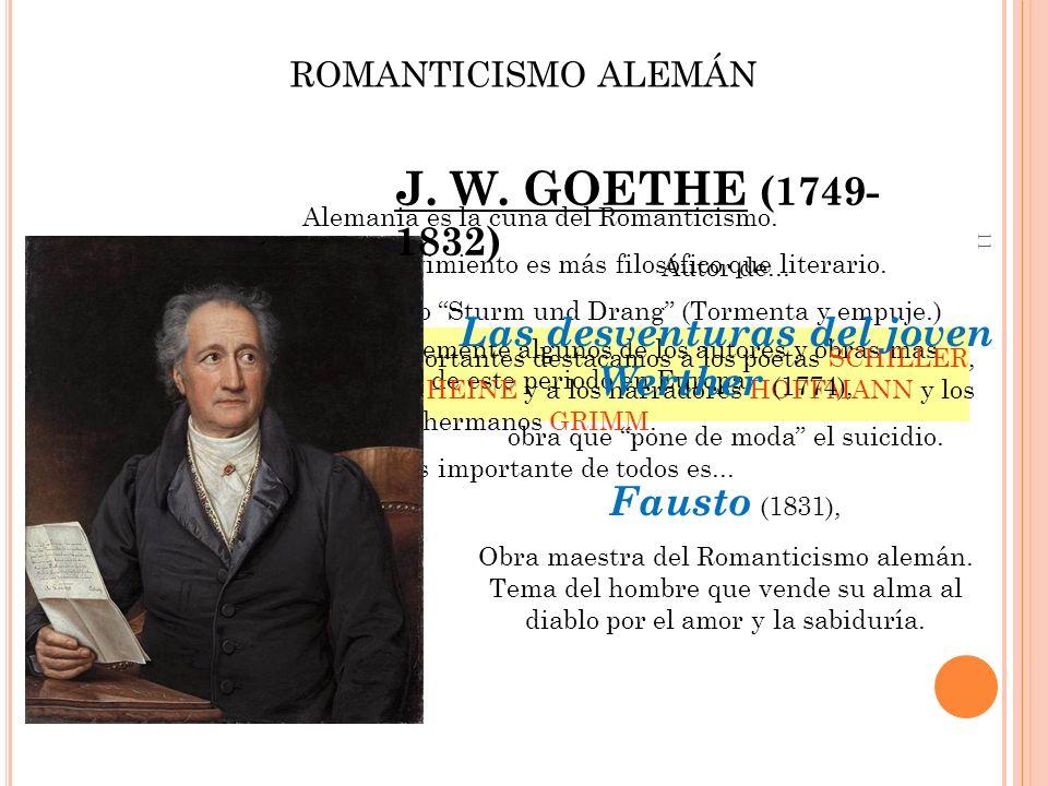 11 Vamos a ver ahora brevemente algunos de los autores y obras más importes de este periodo en Europa. ROMANTICISMO ALEMÁN Alemania es la cuna del Rom