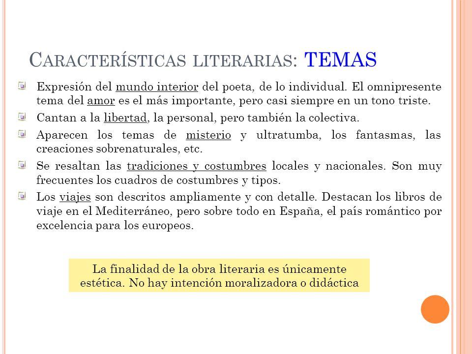 17 Mariano José de LARRA (1809- 1837) Como autor dramático escribió la obra Macías, (1834) sobre el conocido trovador medieval.