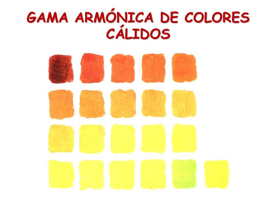 GAMA ARMÓNICA DE COLORES CÁLIDOS