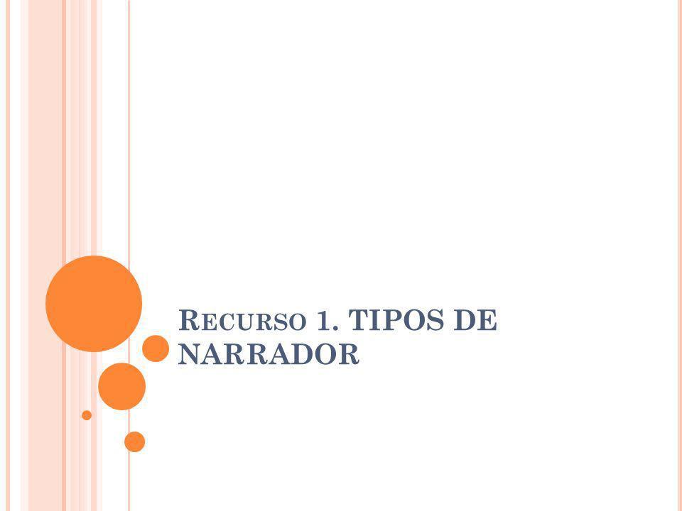R ECURSO 1. TIPOS DE NARRADOR