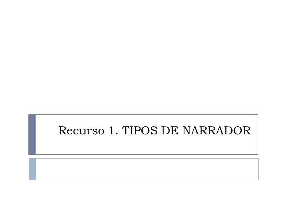 Recurso 1. TIPOS DE NARRADOR