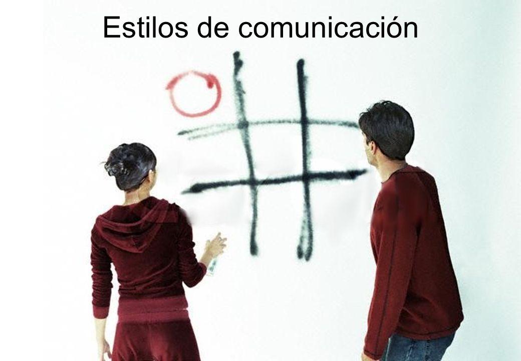AGRESIVO Viola los derechos de los otros los estilos de comunicación PASIVO Deja que los otros violen sus derechos ASERTIVO Respeta tanto sus derechos como los de los otros