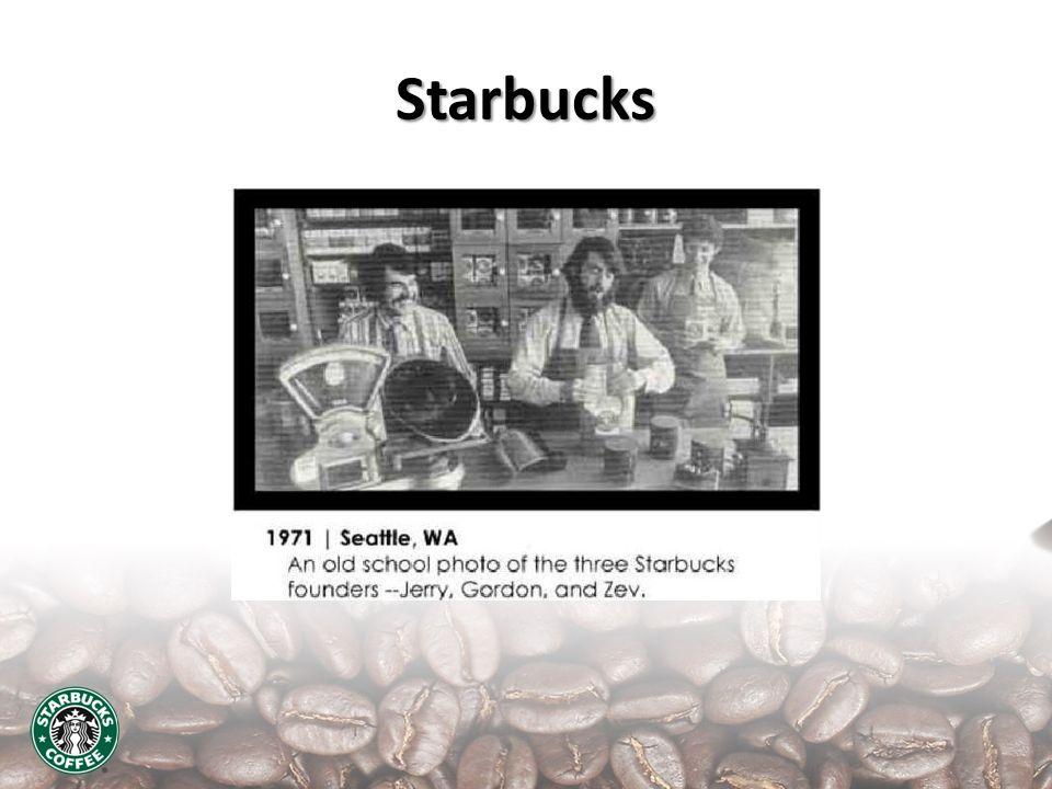Hechos relevantes 19821985 1971 1990 19871998 2000 1993 1995 2008 1984 Primera TDA En Seattle Jerry, Gordon y Zev Howard Schults se une a Starbucks como Dir.