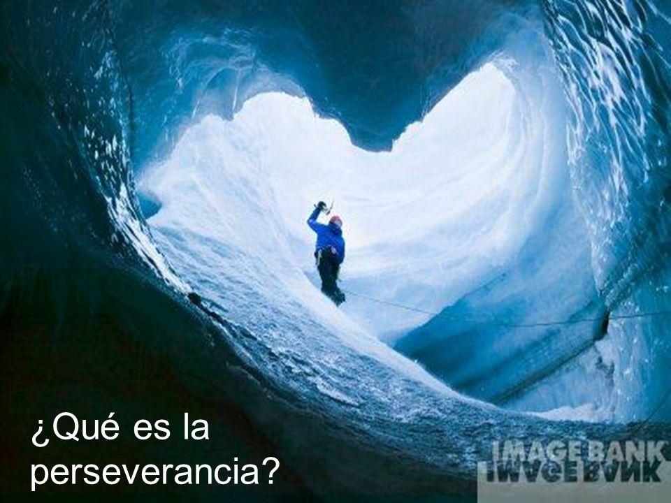¿Por qué ser perseverantes?