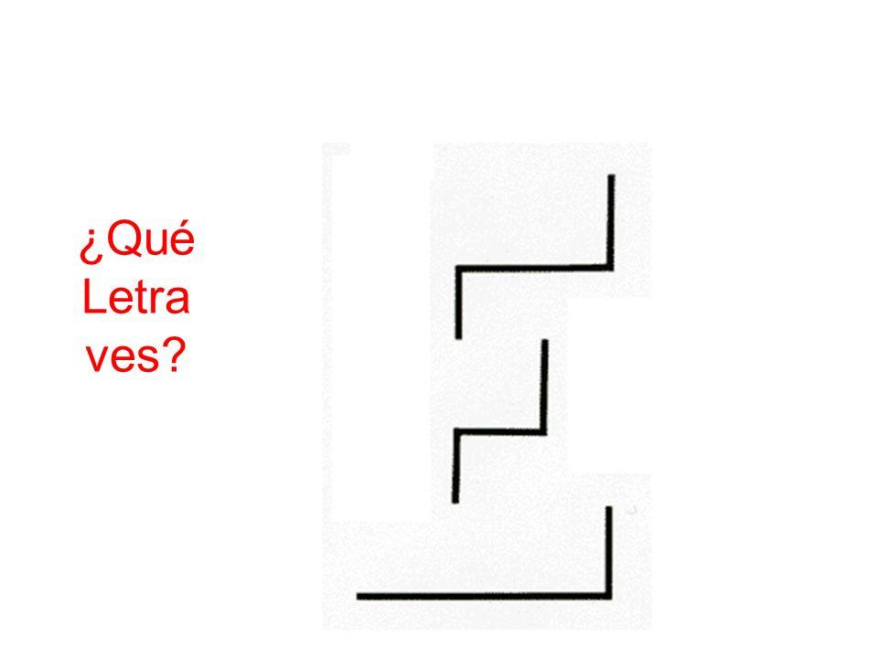 ¿Qué Letra ves?