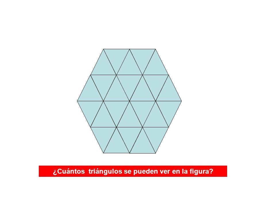 ¿Cuántos triángulos se pueden ver en la figura?