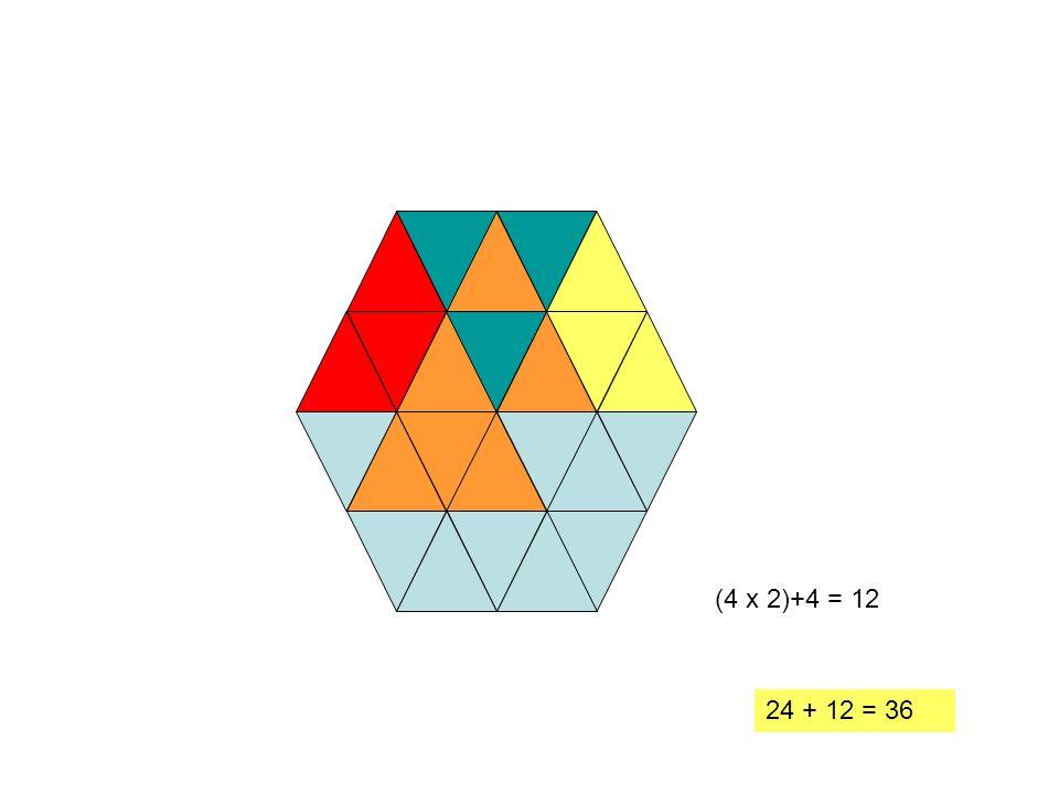 (4 x 2)+4 = 12 24 + 12 = 36