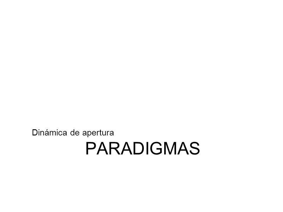 PARADIGMAS Dinámica de apertura