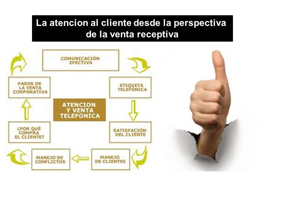 La atencion al cliente desde la perspectiva de la venta receptiva