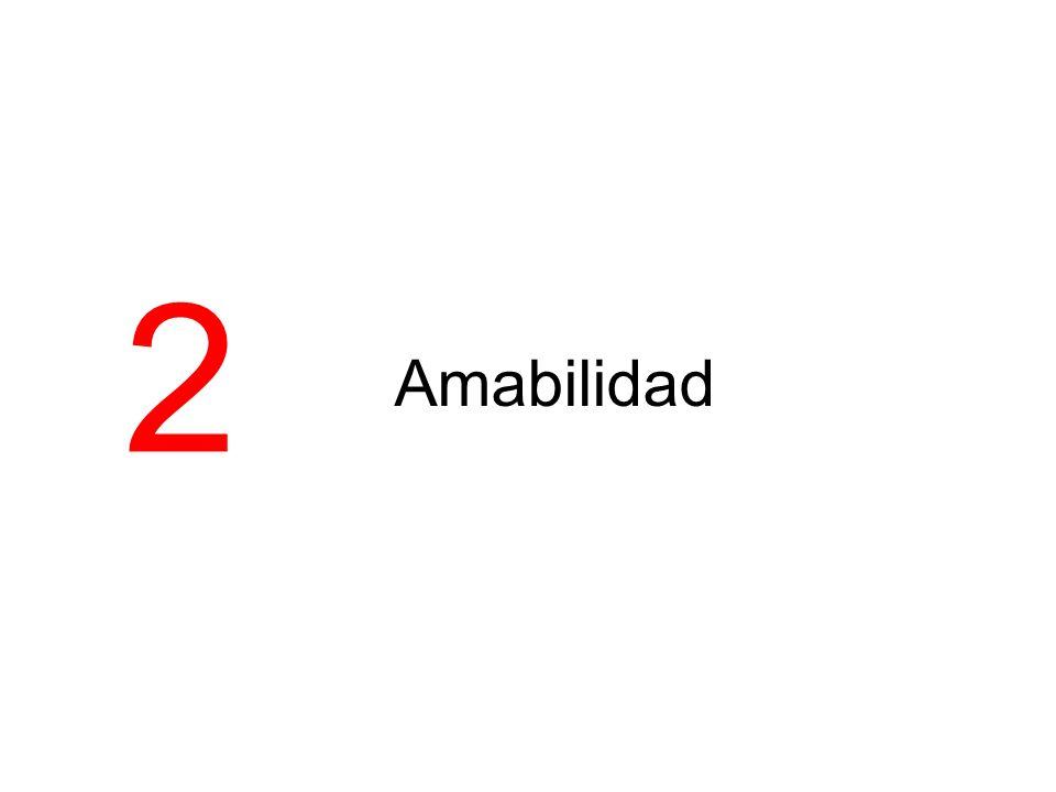 2 Amabilidad