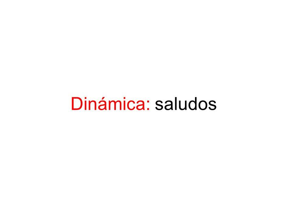 Dinámica: saludos