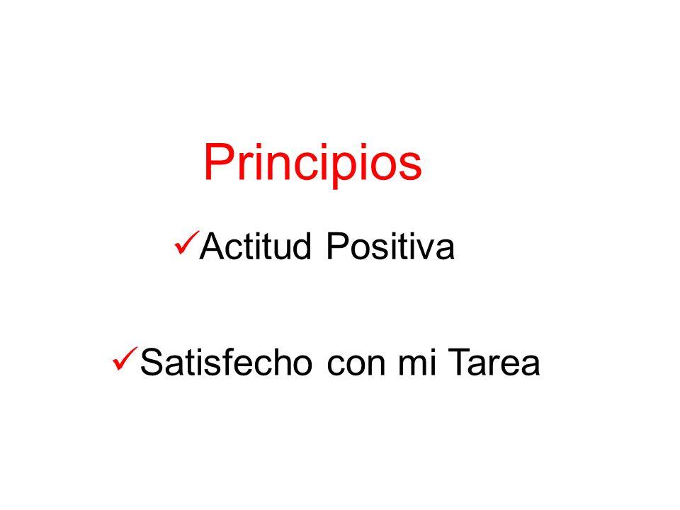 Principios Actitud Positiva Satisfecho con mi Tarea