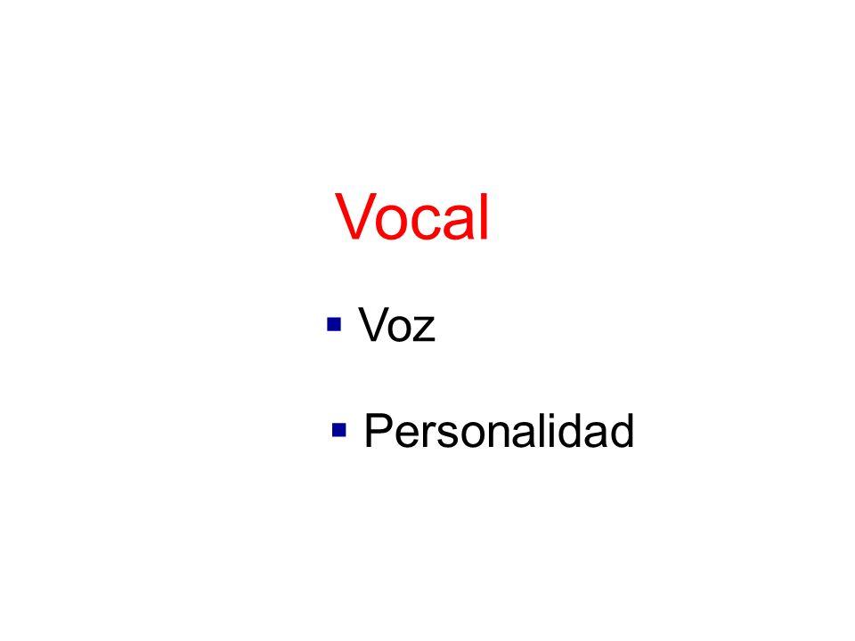 Vocal Voz Personalidad