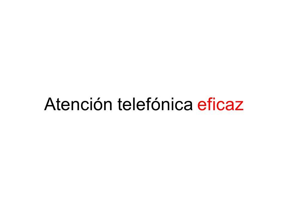 Atención telefónica eficaz
