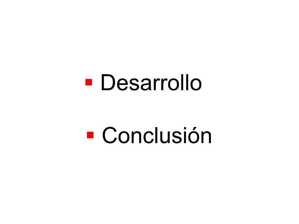 Desarrollo Conclusión