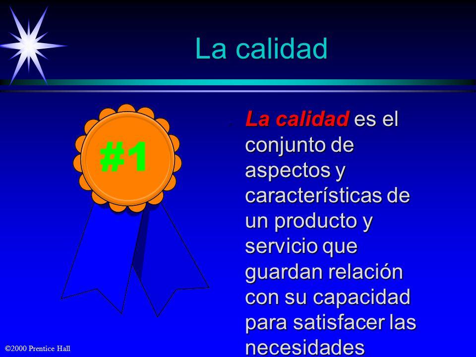 ©2000 Prentice Hall Triángulo de beneficios Creación del valor Ventaja competitiva Operación interna BeneficioBeneficio