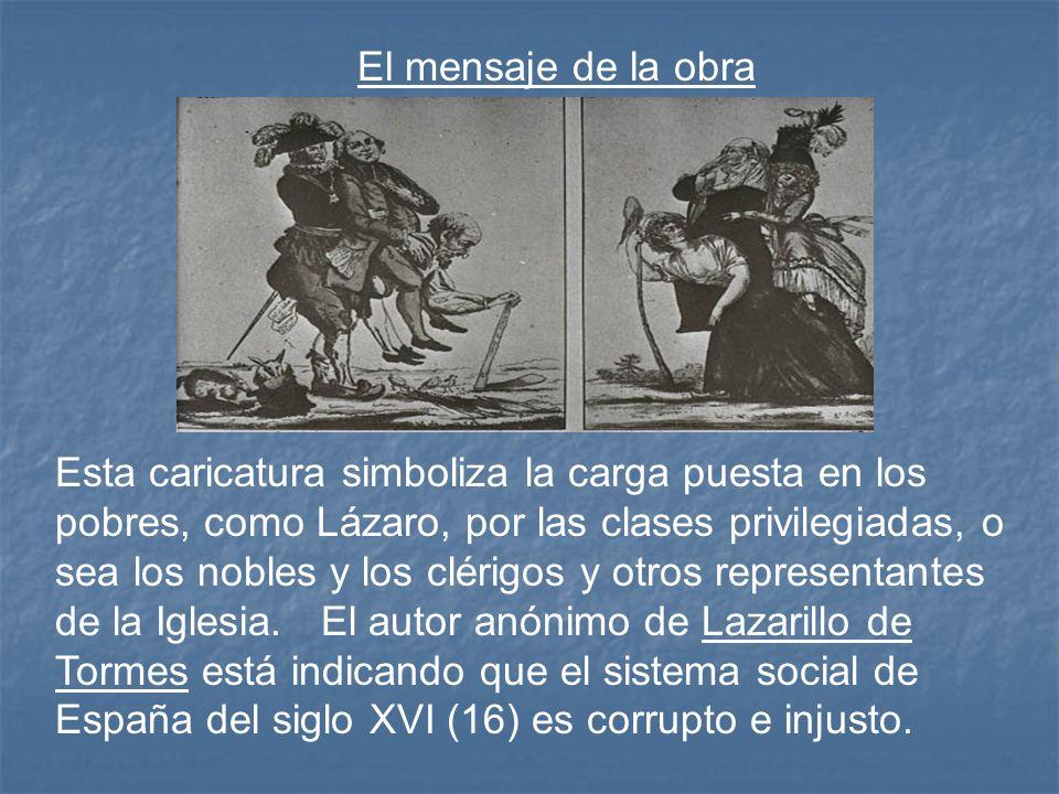 El tercer amo de Lazarillo, un hidalgo muy pobre, no puede darle de comer a Lazarillo porque él mismo no tiene nada de comer.