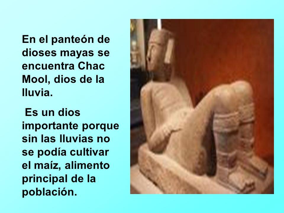 La versión azteca de Chac Mool es Tláloc, que se menciona en la narración con motivo humorístico.