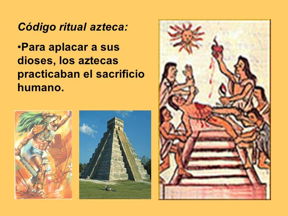 Para ello, cazaban personas de tribus enemigas, las traían vivas a Tenochtitlán, y allí, sobre una piedra y boca arriba en la cima de una pirámide, les sacaban el corazón, que luego quemaban en ofrenda a los dioses.