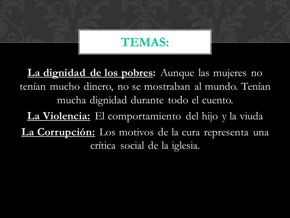 La madre- La madre de Carlos Centeno y tiene una hija también; es muy orgullosa.