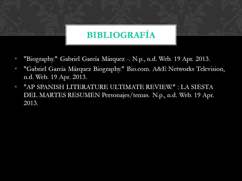 Biography. Gabriel García Márquez -. N.p., n.d.