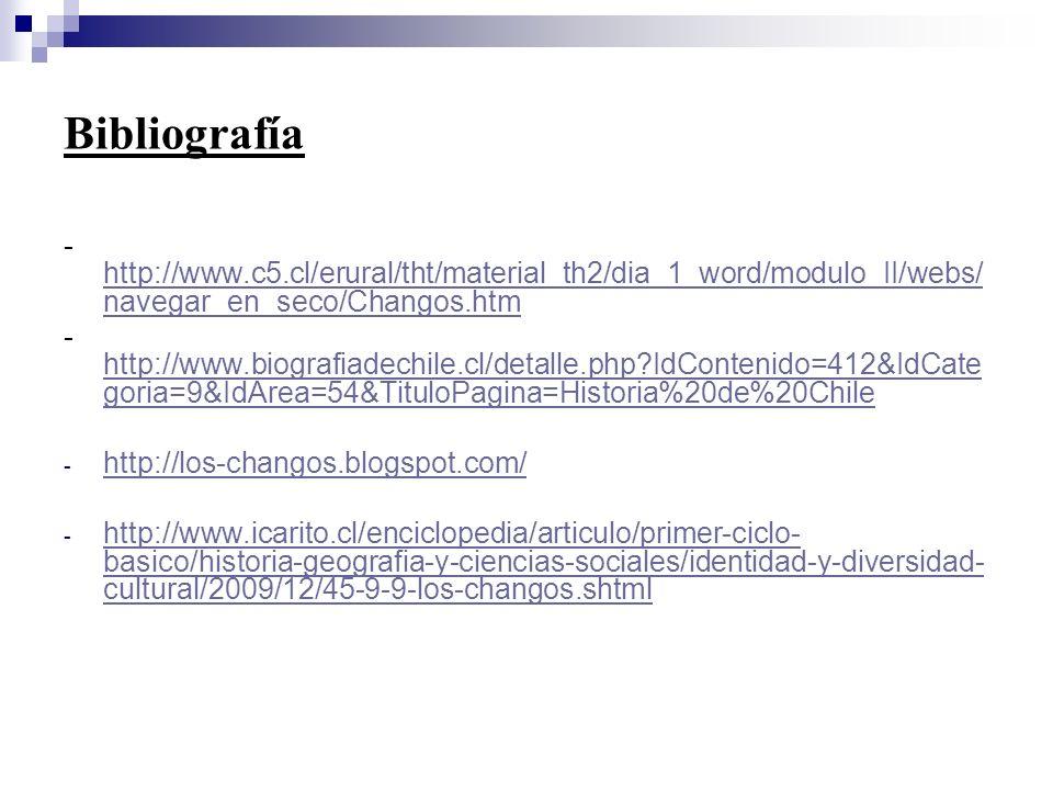 Bibliografía - http://www.c5.cl/erural/tht/material_th2/dia_1_word/modulo_II/webs/ navegar_en_seco/Changos.htm http://www.c5.cl/erural/tht/material_th