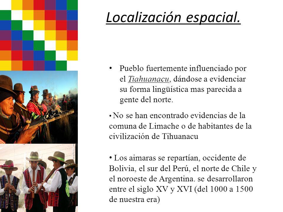 Localización espacial. Pueblo fuertemente influenciado por el Tiahuanacu, dándose a evidenciar su forma lingüística mas parecida a gente del norte. No