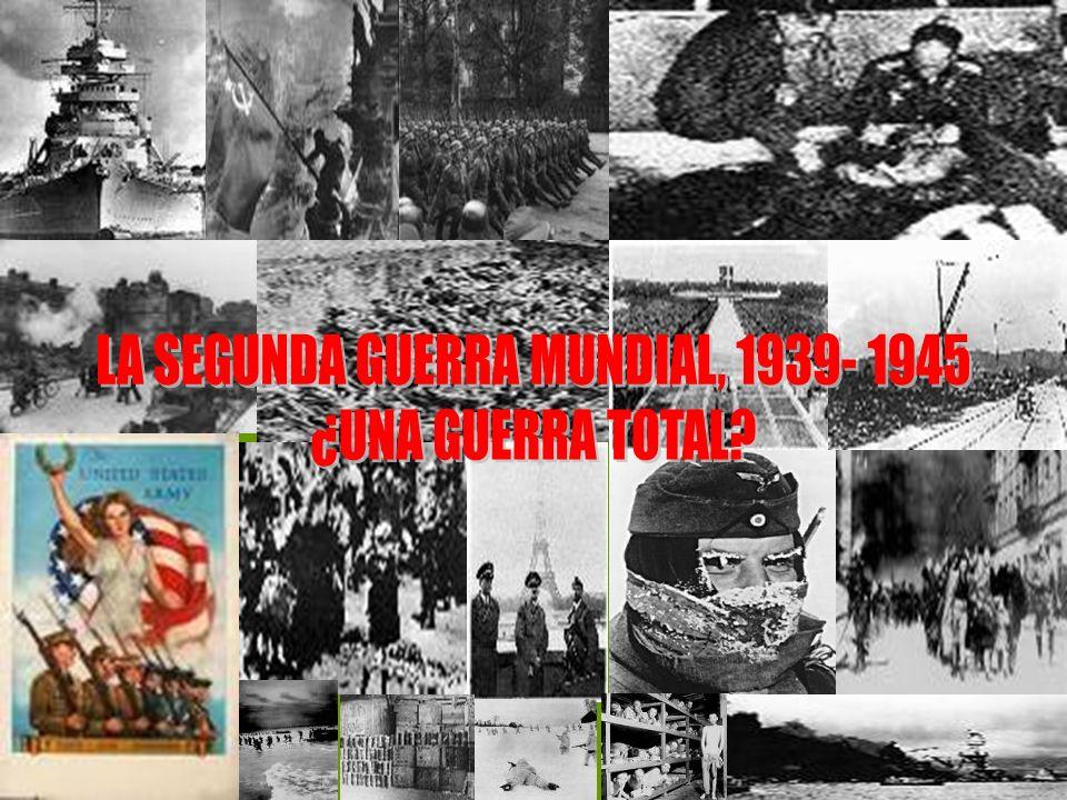 CAUSAS El gran arraigo de la ideología fascista en Europa La aspiración nazi a reunir la población de origen germano La agresiva política exterior de las potencias del eje: Alemania se anexó Austria y parte de Checoslovaquia; Italia en África y Japón sobre China.