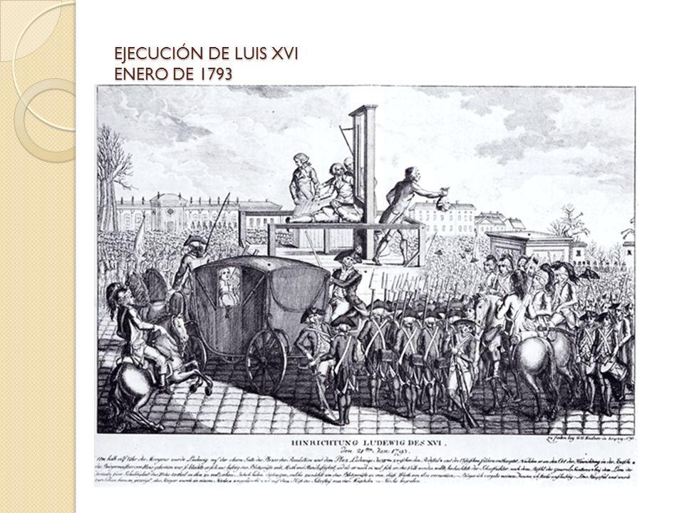EJECUCIÓN DE LUIS XVI ENERO DE 1793