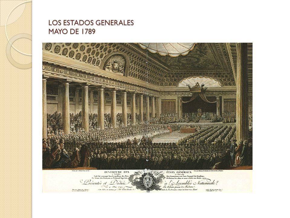 LOS ESTADOS GENERALES MAYO DE 1789