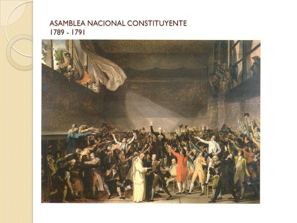 ASAMBLEA NACIONAL CONSTITUYENTE 1789 - 1791