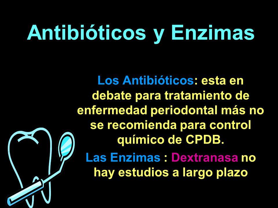 Bisbiguanidícos Clorhexidina Es el más estudiado y el más eficaz para la inhibición de placa