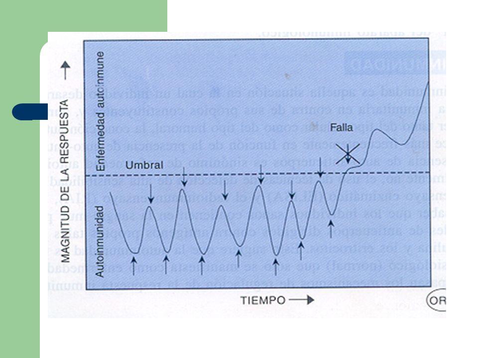 DEFINICION Mecanismo por el cual la respuesta inmune reacciona contra componentes propios del organismo.