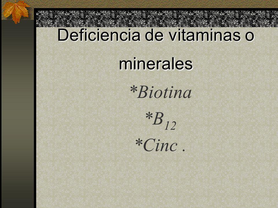 Deficiencia Bioquímica y metabólica *Deficiencia de adenosina desaminasa *Deficiencia de purina nucleósido forsforilasa *Deficiencia de carboxilasa mu