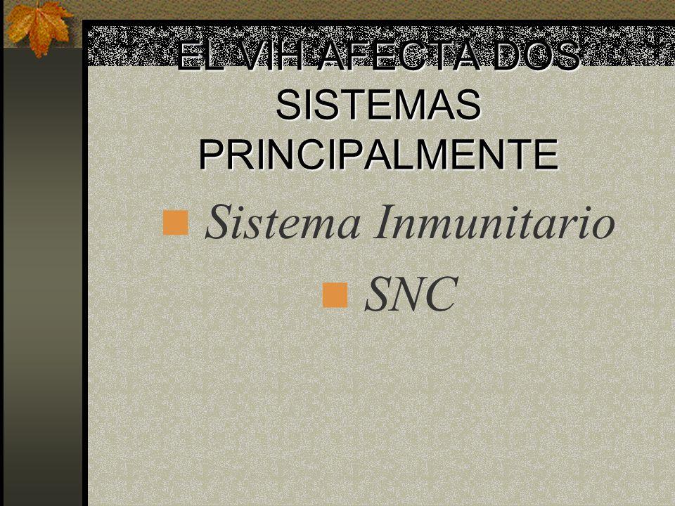 Tipos de Virus del S.I.D.A. (VIH) : VIH-1 VIH-2