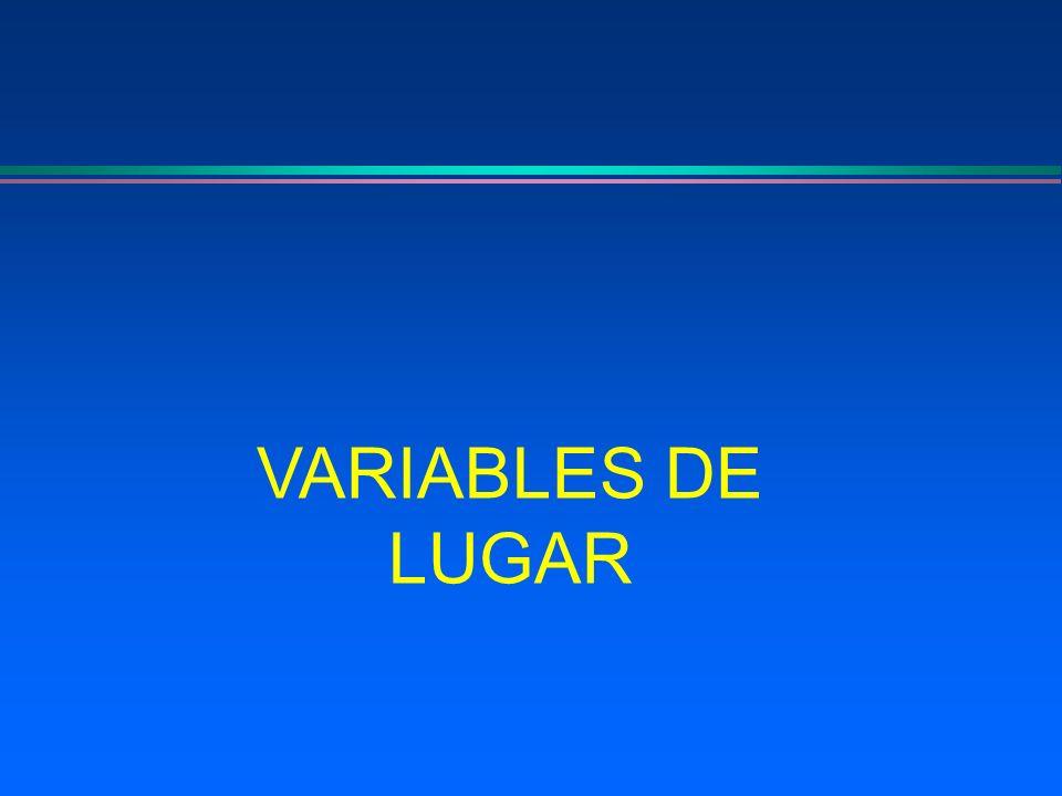VARIABLES DE LUGAR