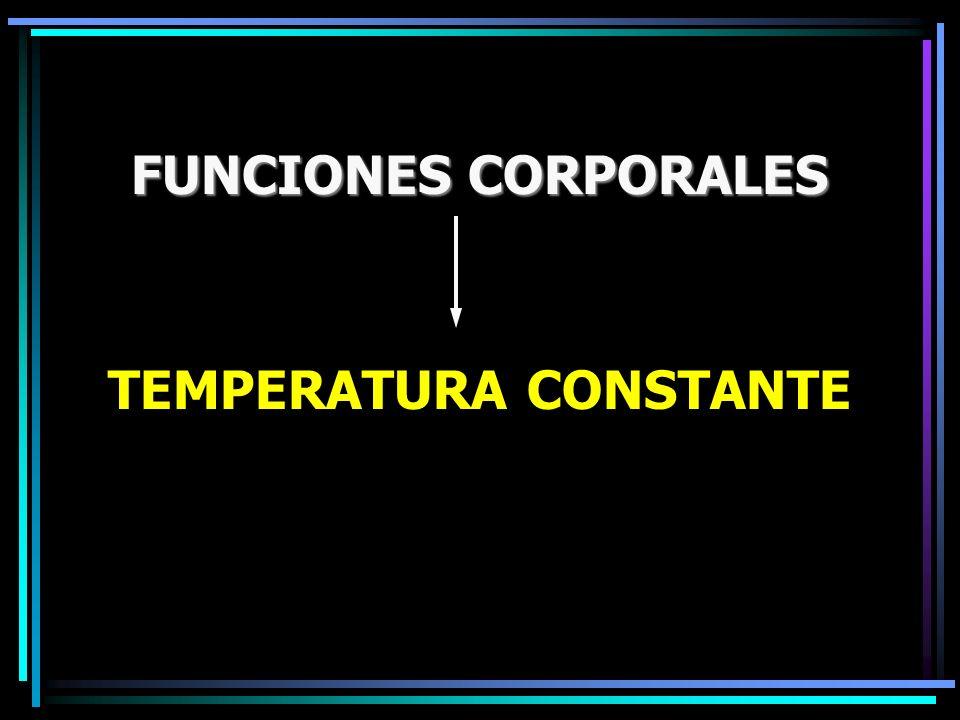 FUNCIONES CORPORALES TEMPERATURA CONSTANTE