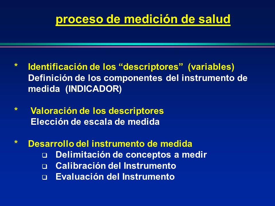 *Identificación de los descriptores (variables) Definición de los componentes del instrumento de medida (INDICADOR) * Valoración de los descriptores E