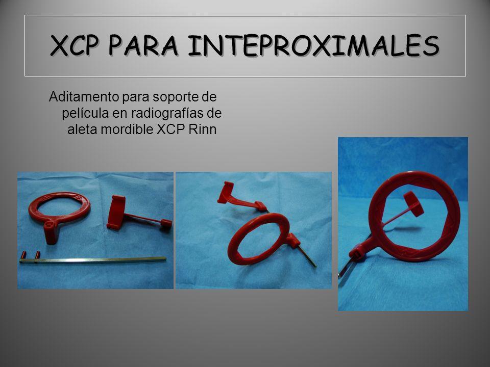 XCP PARA INTEPROXIMALES Aditamento para soporte de película en radiografías de aleta mordible XCP Rinn