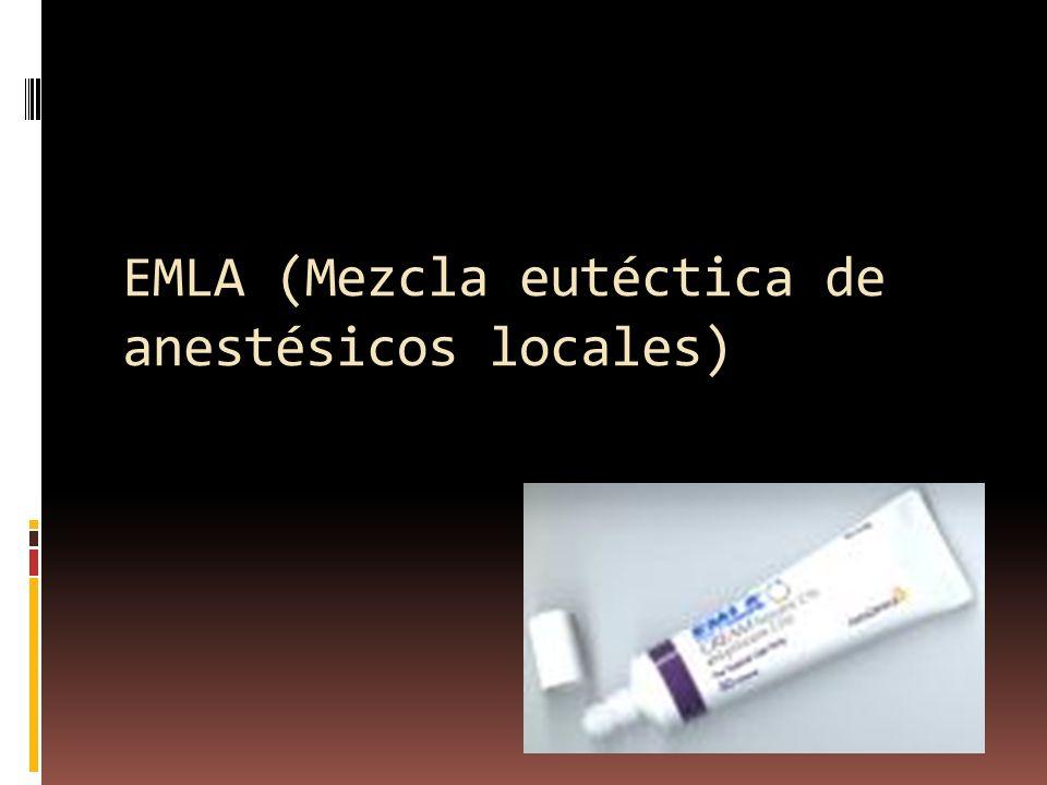 EMLA (Mezcla eutéctica de anestésicos locales)