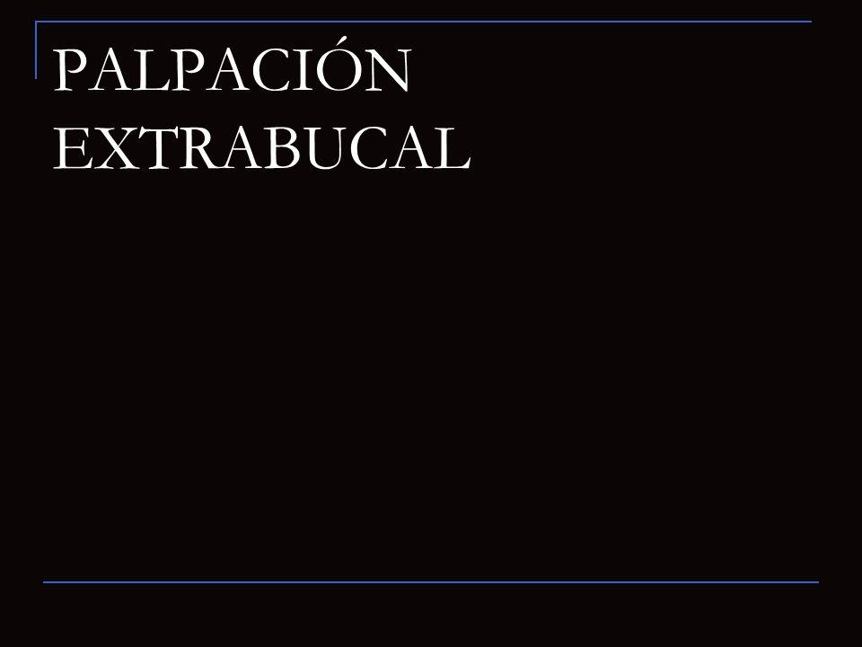 PALPACIÓN EXTRABUCAL