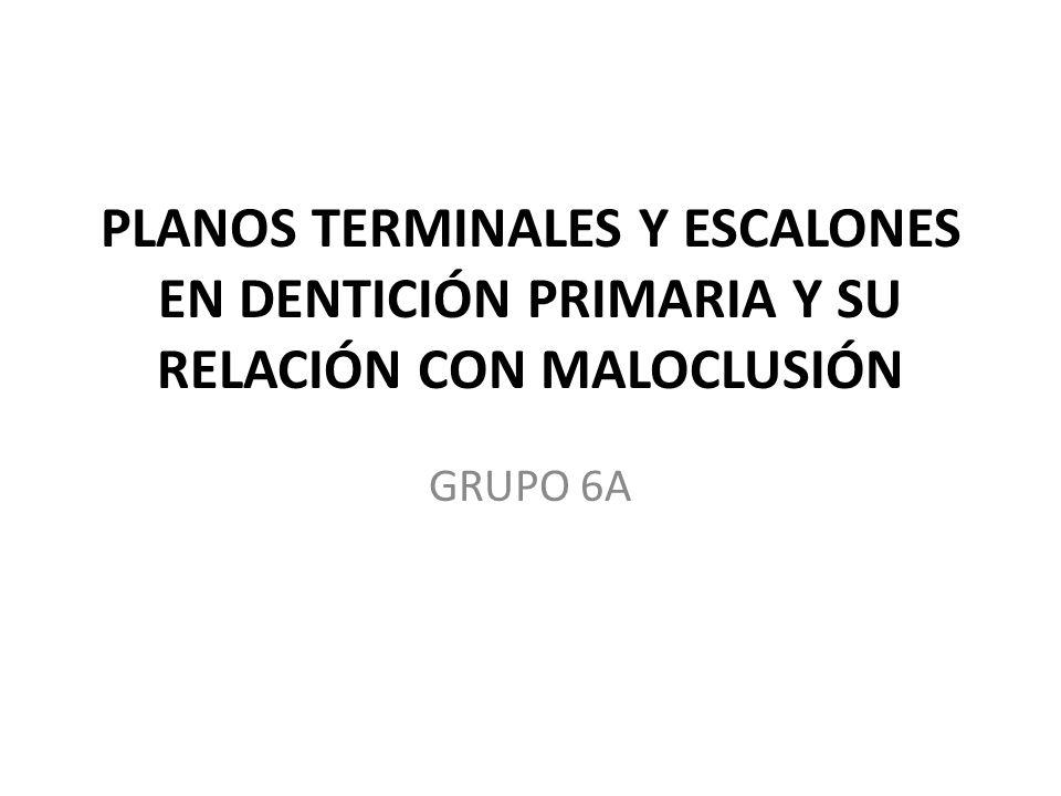 PLANOS TERMINALES Y ESCALONES EN DENTICIÓN PRIMARIA Y SU RELACIÓN CON MALOCLUSIÓN GRUPO 6A