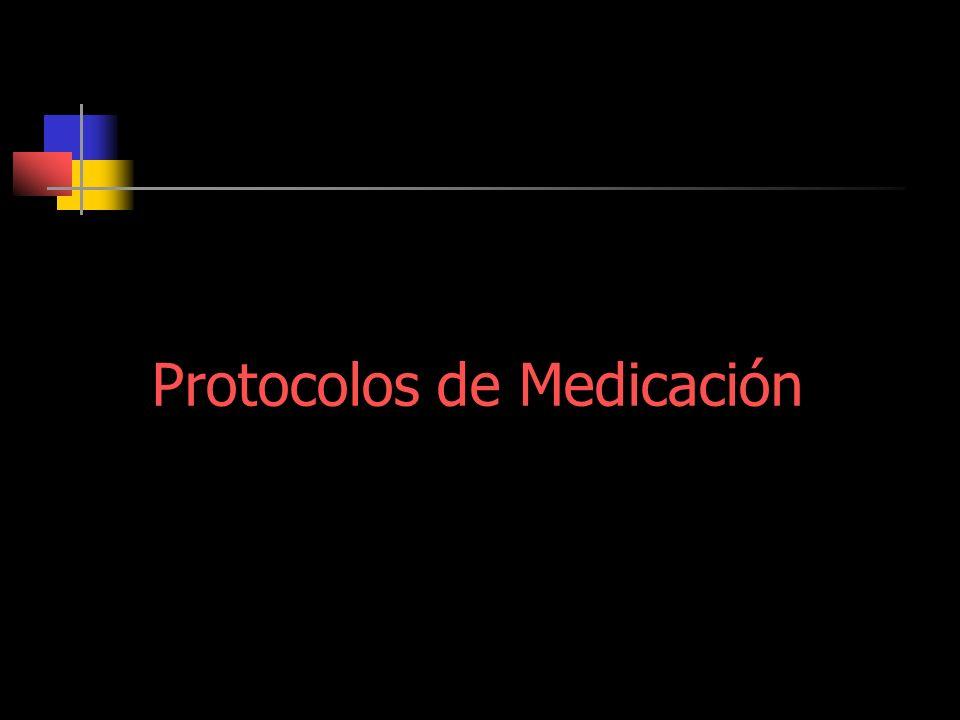 Protocolos de Medicación