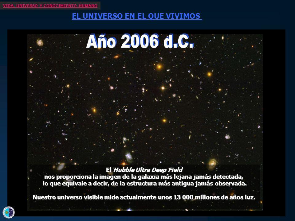 VIDA, UNIVERSO Y CONOCIMIENTO HUMANO EL UNIVERSO EN EL QUE VIVIMOS No hace ni siquiera 50 años de que empezó la exploración espacial... Hace poco más